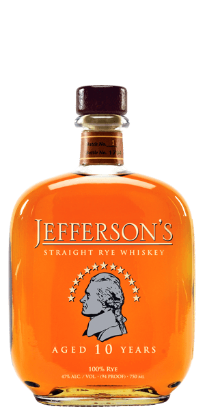 Jefferson's 10 Year Old Straight Rye Whiskey
