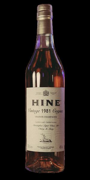 Hine Vintage 1981 Cognac Grande Champagne (Landed 1987 - Bottled 2002)
